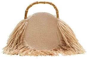 MANGO Fringed round bag