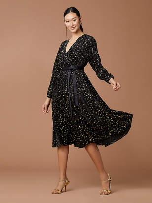Diane von Furstenberg Animal Devore Wrap Dress