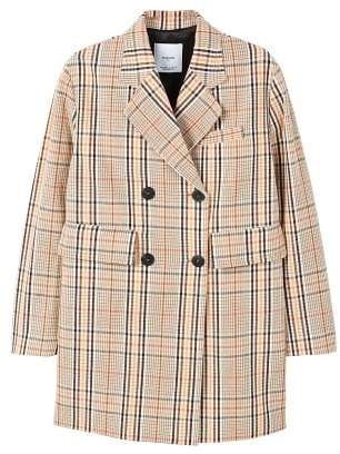 MANGO Double-breasted check coat