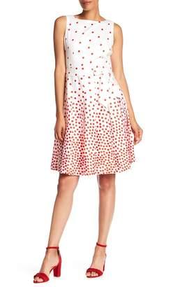 Anne Klein Scattered Dot Fit & Flare Dress