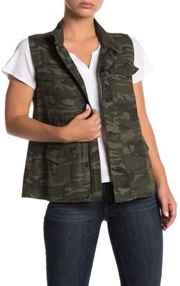 Sanctuary Courier Camo Print Vest (Petite)