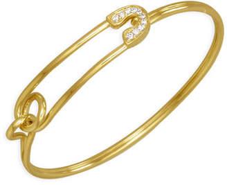 Sydney Evan 14k Gold Diamond Safety-Pin Bracelet