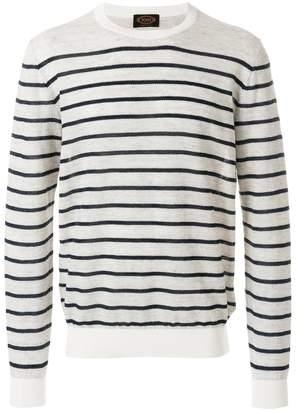Tod's crew-neck striped jumper