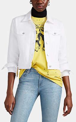J Brand Women's Harlow Shrunken Denim Jacket - White