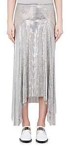 Paco Rabanne Women's Metal Mesh Asymmetric Midi-Skirt-Silver