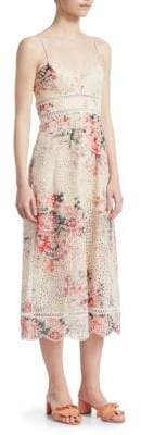 Zimmermann Laelia Diamond Floral Midi Dress