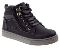 Boy's Casual Lace-Up High-Top Sneakers