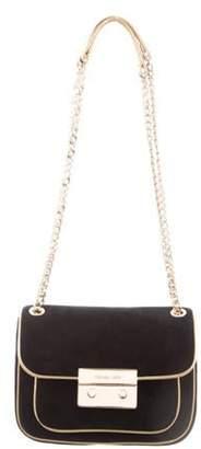 Michael Kors Suede Shoulder Bag Black Suede Shoulder Bag