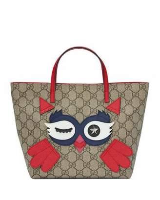 Gucci Girls' GG Supreme Owl Tote Bag $635 thestylecure.com