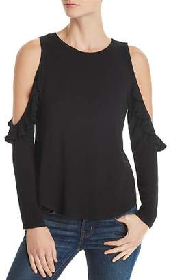 Generation Love Brielle Ruffled Cold-Shoulder Tee