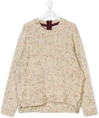 Stella McCartney TEEN speckled chunky knit jumper