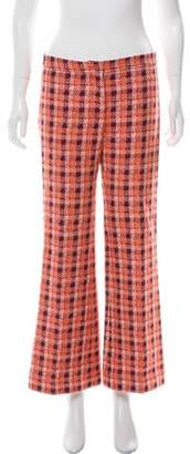 Derek Lam Wide-Leg Plaid Pants