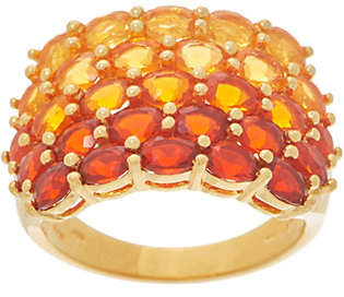 QVC Shades of Fire Opal Band Ring, 2.50 cttw,Sterling Silver