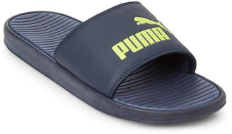 Puma Navy Logo Slide Sandals
