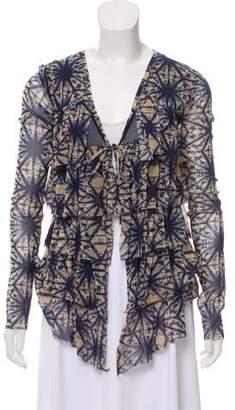 Jean Paul Gaultier Soleil Tie-Dye High-Low Cardigan