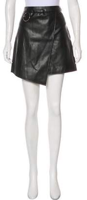 Andersson Bell Faux Leather Mini Skirt