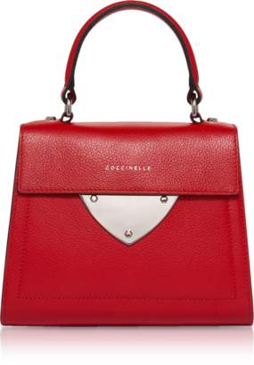 Coccinelle B14 Small Tumbled Leather Satchel Bag