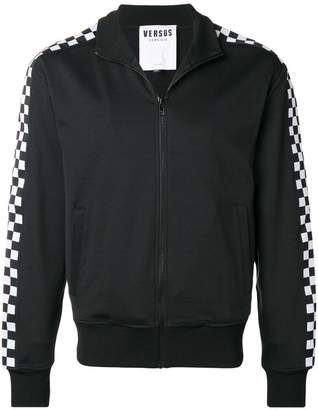 Versus checked-panel track jacket