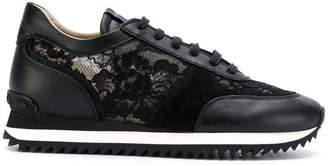 Le Silla lace embellished sneakers
