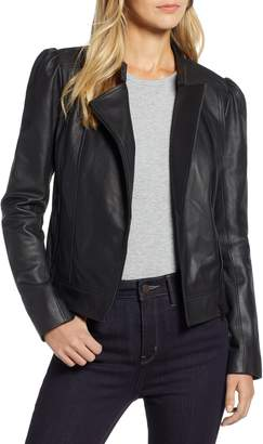 Halogen Leather Jacket