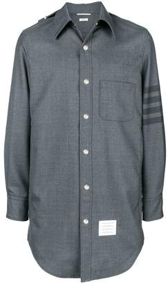 Thom Browne 4-Bar Hooded Shirt Jacket