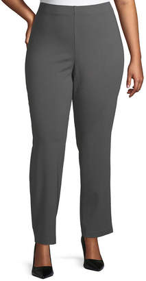 19fbeab0554 Plus Size Pull On Ponte Pants - ShopStyle