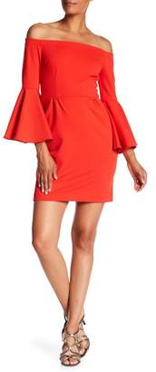 Trina Turk Miley Off-the-Shoulder Bell Sleeve Dress
