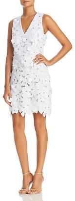 MICHAEL Michael Kors Embroidered Floral Appliqué Dress