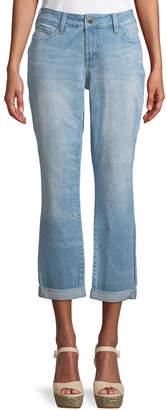 NYDJ Jessica Medallion-Washed Boyfriend Jeans