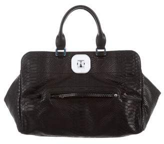 Longchamp Embossed Leather Bag