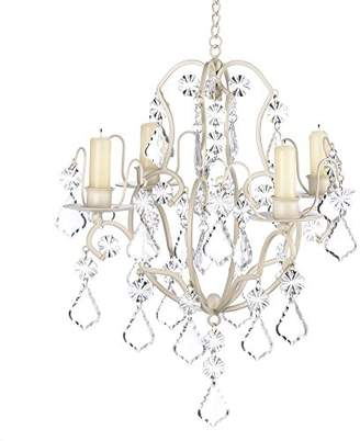 Gifts & Decor Ivory Baroque Candle Chandelier