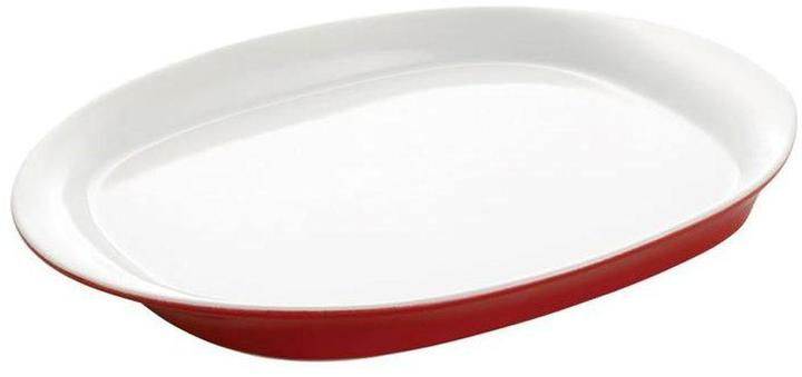Rachael Ray Round and Square 14 in. Round Platter in Red