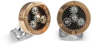 Deakin & Francis Sun & Planet Rose Golden Gear Cuff Links