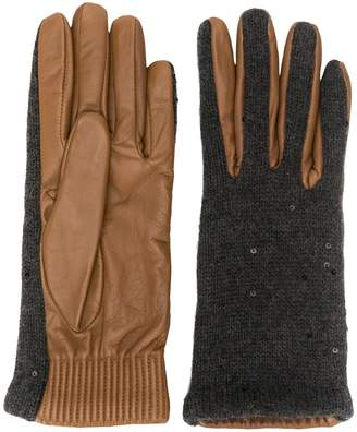 Brunello Cucinelli textured gloves