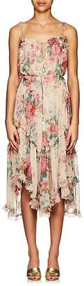 Zimmermann Women's Laelia Floral Silk Tiered Dress