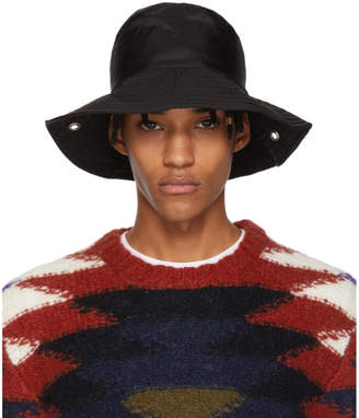 Free Shipping at SSENSE · A-Cold-Wall  A Cold Wall  Black Satin Bucket Hat 53f01150a195