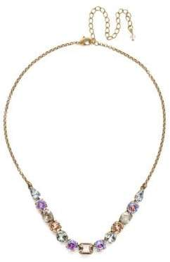 Sorrelli Washed Waterfront Tansy Crystal Half Line Necklace