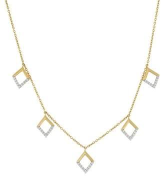 Bony Levy 18K Yellow Gold Diamond Open Diamond Station Necklace