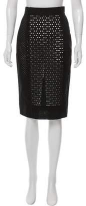 Tamara Mellon Eyelet Detailed Knee-Length Skirt
