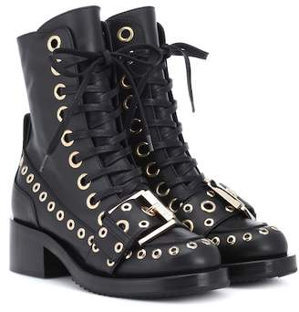 N°21 Embellished leather ankle boots