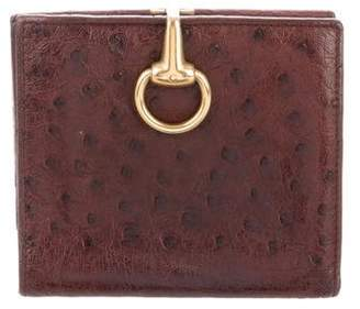 Gucci Vintage Ostrich Horsebit Wallet