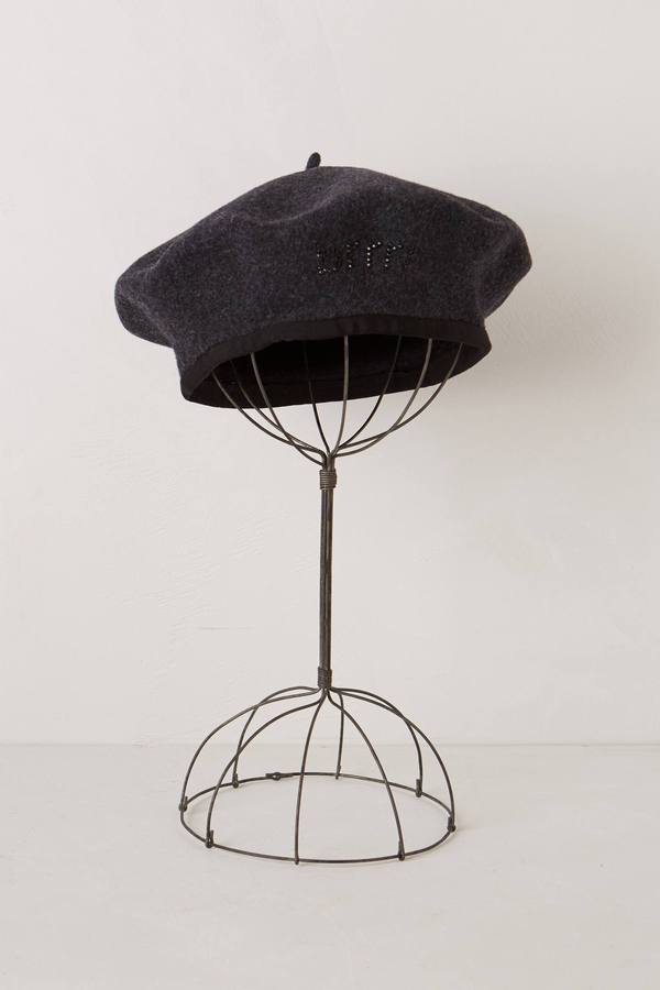 Anthropologie Chilled Crystal Beret