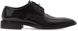 Balenciaga Patent Leather Rim Derby Lace-Up Shoes