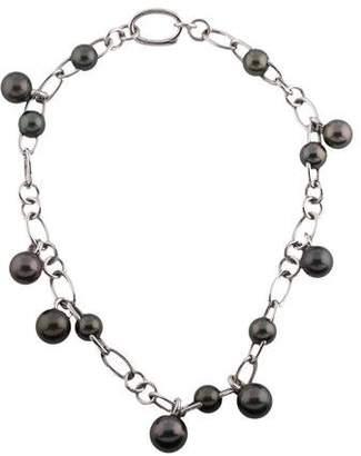 Mikimoto 18K Tahitian Pearl Collar Necklace
