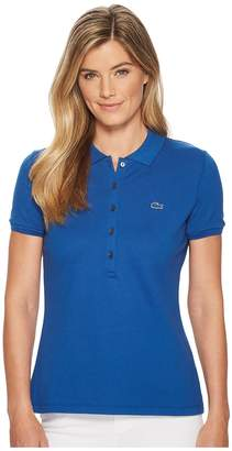 Lacoste Short Sleeve Slim Fit Stretch Pique Polo Shirt Women's Clothing