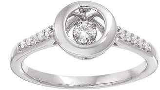 Brilliance+ Brilliance In Motion Brilliance in Motion 1/5 Carat T.W. Diamond Sterling Silver Circle Ring