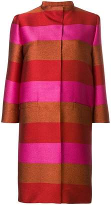 Gianluca Capannolo silk striped coat