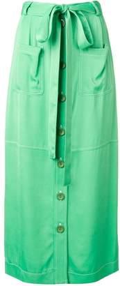 See by Chloe waist-tied midi skirt