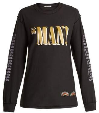 Blouse - Annan Lewin Print Cotton T Shirt - Womens - Black