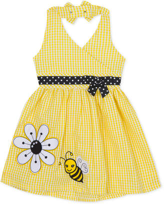 Rare Editions Baby Girls Gingham Seersucker Halter Dress